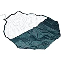 dobar 80650 Wetterfestes großes Nylon Netz für Freilaufgehege inkl. 50% Sonnenschutz - passend für 8-eckige Kaninchengehege