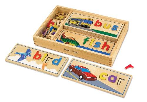 Imagen principal de Melissa & Doug 12940 - Mira y Deletrea, juego de aprendizaje de palabras