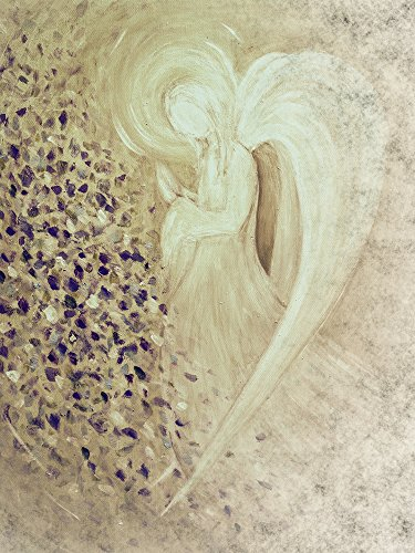 Artland Qualitätsbilder I Poster Kunstdruck Bilder 45 x 60 cm Fantasy Mythologie Religion Malerei Creme C1RX Engel