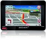 Becker Ready45 EU 19 Navigationsgerät (10,9 cm (4,3'') Bildschirm, 19 Länder Europas, HQ TMC Verkehrsfunkempfänger, Text-to-Speech, SituationScan) schwarz /silber-metallic