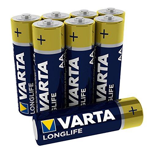 Varta Longlife Batterie AA Mignon Alkaline Batterien LR6-8er Pack