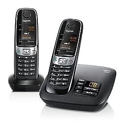 Gigaset C620A Telefon / Schnurlostelefon / 2 Mobilteile - Farbdisplay / Dect-Telefon - mitAnrufbeantworter / Freisprechen / Analog Telefon, schwarz