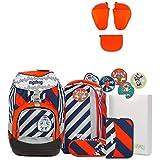 Ergobag Pack Bär2-D2 Special Edition Schulrucksack-Set 7tlg + Seitentaschen ZIP-Set Orange