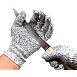Resistente a los cortes guantes–de calidad alimentaria nivel de corte 5PROTECCIÓN DE COCINA–ligero, transpirable, y mayor comodidad–disponible en tamaños pequeño, medio, grande, XL–proteger tus manos, azul, small