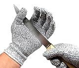 Schnittfest Handschuhe–Lebensmittelqualität Küche Level 5Schnittschutz–leicht, atmungsaktiv, und extra bequem–erhältlich in den Größen small, medium, large, XL–Schützen Sie IHRE Hände