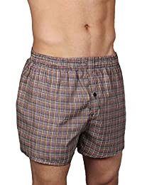 Neska Moda Men's Elasticated Cotton Multicolor Boxer With 1 Back Pocket-MP-XB9