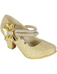 GIRLS SILVER GLITTER BUTTERFLY PARTY BRIDESMAID WEDDING SANDALS SHOES SIZE 9-2