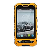 Sudroid 4 Zoll IP68 Wasserdicht 3G Rugged Android 4.4 Smartphone 1.3GHz Dual-SIM-Staubdichte Shockproof Kapazitiver Schirm GPS 5MP A8 (Gelb)