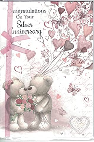 25th Anniversary Card ~ Congratulations On Your Silver Anniversary ~