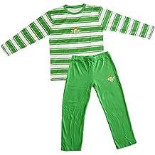 Real Betis Balompié Pijbet Pijama, Infantil, Multicolor (Verde/Blanco), ...