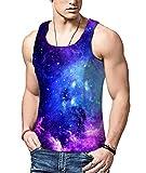 BFUSTYLE T-shirt Senza Maniche da Uomo con Stampa 3D Galaxy Galaxy Canotte