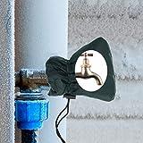 Cuigu Wasserhahn-Abdeckung, Schutz gegen Frost, Winter, für Außenhahn/Wasserhahn, Wasserhahn-Abdeckung, Nylon, Schwarz, 5.51
