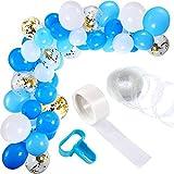 Maojuee 113 Pezzi Ghirlanda Palloncino Kit Addobbi per Feste di Palloncini Compleanno Balloon Arch Garland Palloncini Lattice Riempito Sfondo di Nozze Decorazione per Feste (Blu)