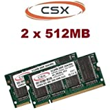 1 GB 2 x 512 MB compustocx 266 mhz portátil PC-266 memoria Ram PC-2100 pc 266 para portátiles DDR1 DDR-Ram