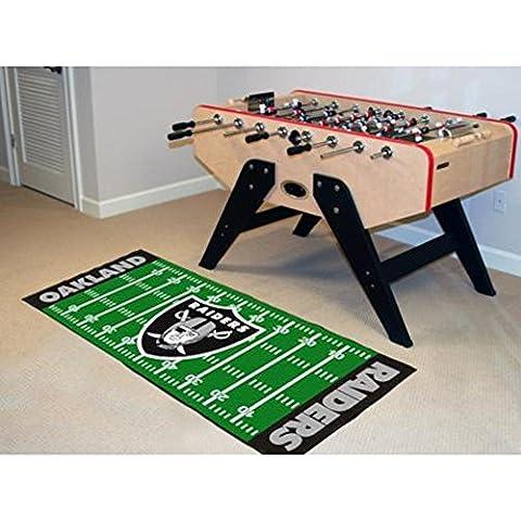 Fanmats 07361 Nfl - camino de mesa de suelo Oakland Raiders