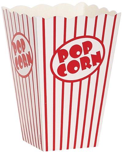 Unique Party  59022  - Popcorn Boxes, Pack of 10