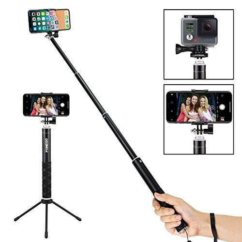 Palo para selfie Foneso con bluetooth y trípode para smartphone o cámara,...