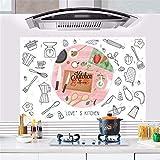 HhGold Moderne Küche Cartoon Wall Sticker extraktoren Öl gegen den Backofen hochtemperaturbeständige Restaurant Wall Art Badezimmer Badezimmer Wasserfeste Selbstklebende Wandtattoos, 88 * 58 cm
