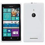 ebestStar - Cover Compatibile con Nokia Lumia 925 Custodia Protezione S-Line Design Silicone Gel TPU Morbida e Sottile, Bianco [Apparecchio: 129 x 70.6 x 8.5mm, 4.5'']