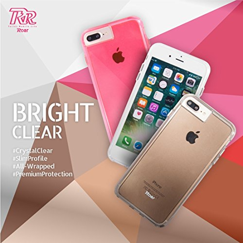 Wkae Roar Soft TPU Stoßstange + Hard PC Skin Kombi Hülle für 5,5 Zoll iPhone 7 Plus ( Color : Grey ) Magenta