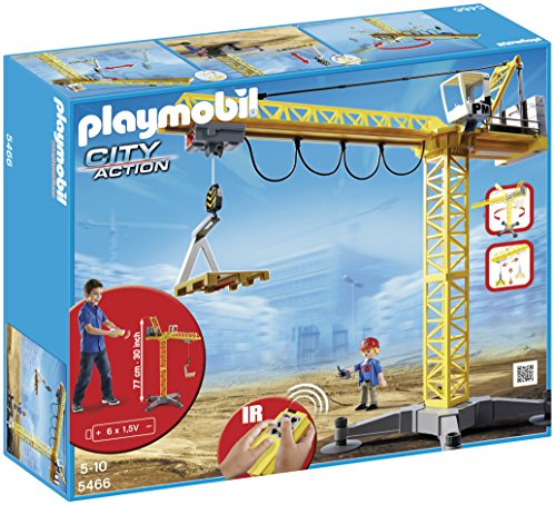 Playmobil 5466 City Action Large Construction Crane with Infra-Red Remote Control - Multi-Coloured