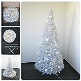 Weihnachtsbaum 1,8m geschmückt und beleuchtet weiß