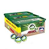 Ariel 3-in-1 Pods, Washing Liquid Capsules, 114 Washes