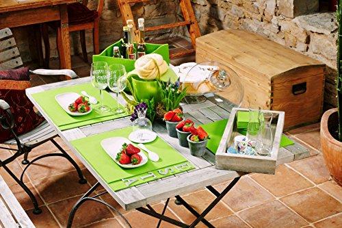 Untersetzer Glasuntersetzer Tischset Scheibe rund 100% Merino Filz 3mm Ø 20 cm (mai grün) - 4