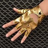 WeShop® - Frauen-Pfirsich-Herz-Stil aushöhlen Fingerlose Handschuhe Goldene