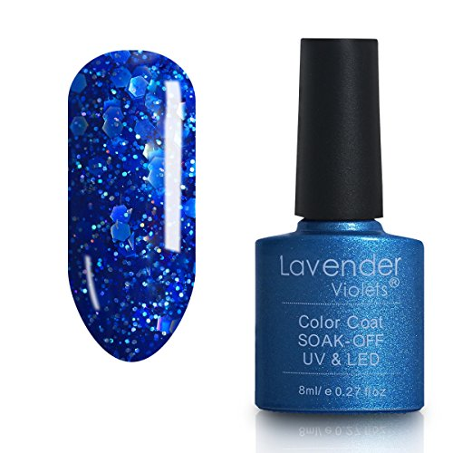 Lavendel Veilchen® Salon Soak Off Gel Nagellack UV-LED-Farben Lack 8 ml bright cobalt – D237