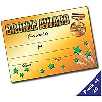 Servicios de enseñanza primaria Ltd Bac–Pack de 20bronce premio A5certificados