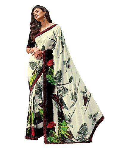 Laxmipati Georgette Saree (Sthlaxds168_White)