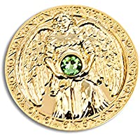 Engeltaler Gesundheit Schutzengel Talisman 24kt vergoldet mit Kristall, Ø 27mm, Glücksbringer Glücksmünze Engel preisvergleich bei billige-tabletten.eu