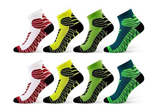 Sesto Senso® Sportsocken Damen Herren aus Baumwolle Sneaker Socken Multipack (von 4 bis 10 Paar) Laufsocken Unisex für viele Sportarten (44-46, 8 paar) -