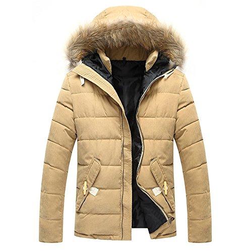 ZEARO Winterjacke Herren Outdoorjacke Winddicht Warm Mantel mit Kapuze