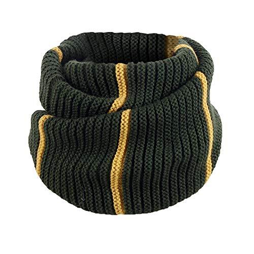 Xmiral Damen Liebhaber Winter Solide Linie Patchwork Warm Knit Gugel Hals Baumwolle Schal Ring Schal