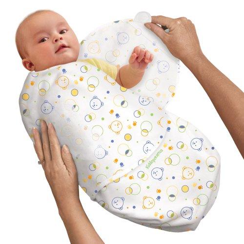 SwaddleMe 10516 - Neugeborenes/Baumwolle/Kreis-Bären-Muster - Ganzkörper-Pucksack ist ideal bei Schreibabys Small