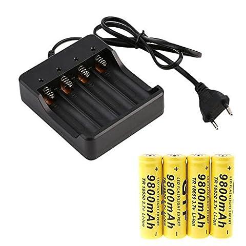 Kangrunmy 3.7V 9800mAh 4 X 18650 Li-Ion Rechargeable Smart Chargeur Indicateur