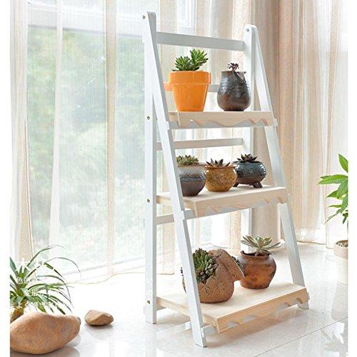 ZCJB Etagères de plantes Fleur Stand Bois Massif Salon Plancher Multi-couche Fleur Pliante Balcon Charnue Fleur Pot Rack ( taille : 70cm )