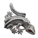 Vintage 925 Sterling Silber Eidechse Wrap Designer Ring Schmuck für Herren Damen Verstellbar