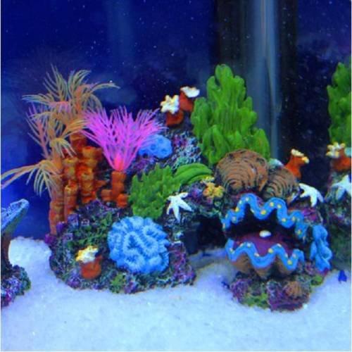 Generic NV _ 1001005470_ yc-uk214cmora Tank Höhle Fisch AQ28432Aquariumdeko Höhle Dekoration Aquarium Ation Coral Reef Fisch Rium Ornament 14cm Sucker - Coral Dekoration Reef Aquarium
