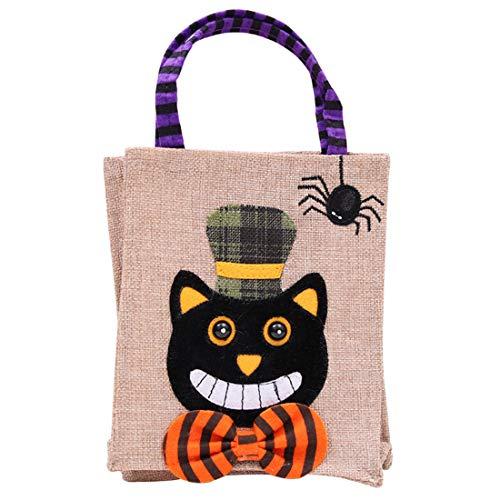 MUCHAO Halloween Party Niedlich Einkaufstasche Kind Süßigkeitstasche Snack-Tasche Geschenkbeutel Einkaufstüte