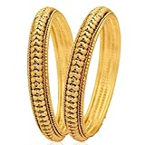 #9: KENNICE Traditional Gold Plated Designer Bangles Jewellery for Women