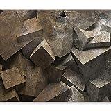 murando - Fototapete 400x280 cm - Vlies Tapete - Moderne Wanddeko - Design Tapete - Wandtapete - Wand Dekoration - Steine 3D optische f-A-0264-a-c