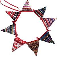 Nai-Style Triángulo Pancarta de Tela Que cuelgan Festival Banner Bunting Garland Partido de la decoración Fuera de la Florida