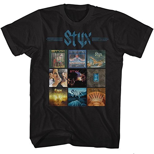 STYX - Album-Gitter-T - Shirt der Männer, XXX-Large, Black (Styx-t-shirt)