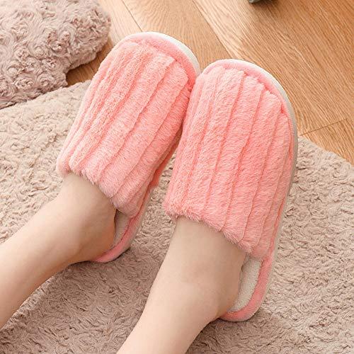 SWX-FlipFlop Zapatillas algodón casa Invierno Pareja