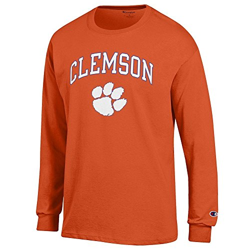 eLITe NCAA Clemson Tigers Herren Langarmshirt, Orange, Größe M (Dart Cover Board)