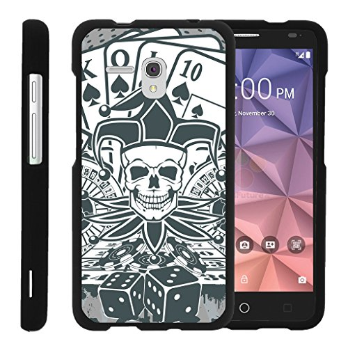 turtlearmor | Alcatel One Touch Fierce XL Schutzhülle | Alcatel Flint Fall [Slim Duo] Ultra Slim Matt Hard 2-Teilige Schutzhülle Cover Compact Cool Design auf Schwarz -, Joker Skull - Camo Alcatel Touch One