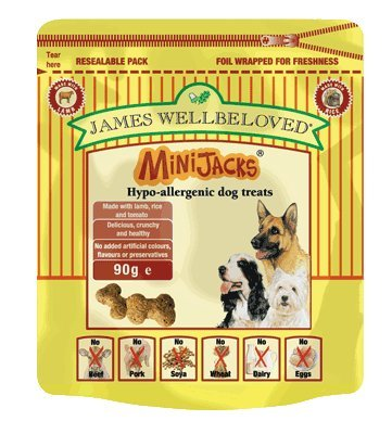 Artikelbild: James Wellbeloved MiniJacks Dog Treats Lamb 90g